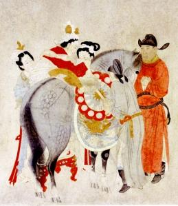 Yang Yuhan Mounting Horse