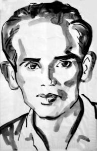 Luu Trong Lu portrait in black & white