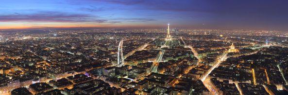 Paris-Night-View from Montparnasse