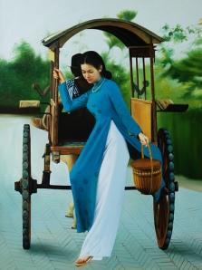 lady in vientamese dress