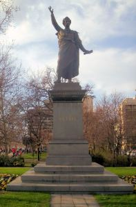 Statue of Petofi in Budapest
