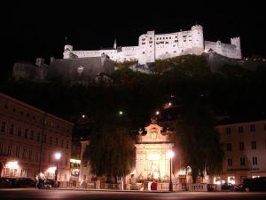 Salzburg Hohensalzburg at night