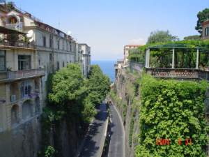 Sorrento view from PiazzaTasso