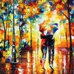 Umbrella painting by Leonid Afremov