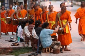 Luang Prabang Monks Alm at Dawn