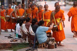 Luang Prabang Monks Alm at Dawn