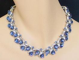 Swarovski- blue bubble necklace