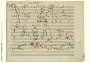Ludwig Beethoven Manuscript