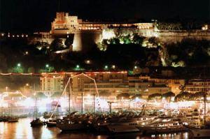 Monaco City View At Night