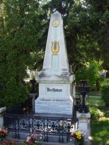Beethoven's Grave in Zentralfriedh of Vienna