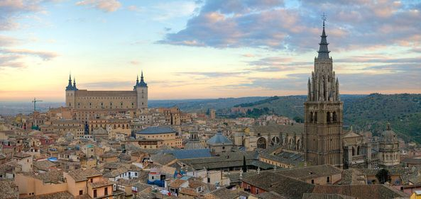Panorama view of Toledo