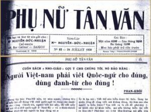 Phu Nu Tan Van Newspaper