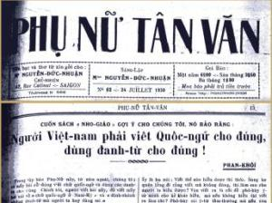 Phu Nu Tan Van Newspaper