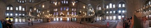 Interior of Blue Mosque
