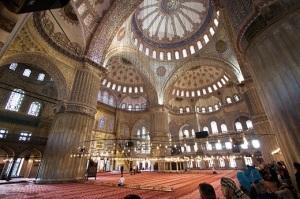 Interior of Blue Mosque, Istanbul