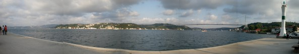 Panoramic view of the Bosphorus