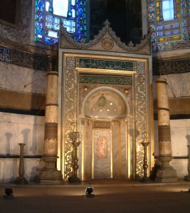 The Mihrab located in the apse