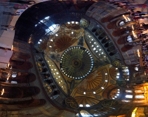 Interior panorama of the Hagia Sophia
